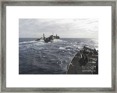 The Arleigh Burke-class Guided-missile Destroyers Framed Print by Celestial Images