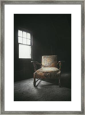 The Armchair In The Attic Framed Print by Scott Norris