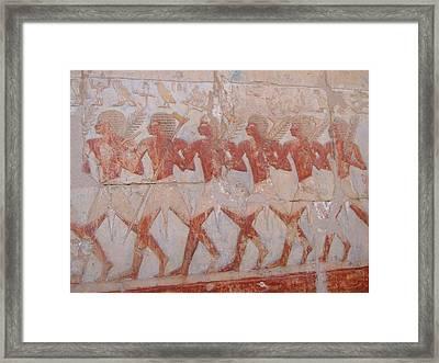 The Army Of Hatshepsut Framed Print by Richard Deurer