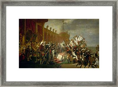 The Army Takes An Oath To The Emperor After The Distribution Of Eagles, 5 December 1804 Framed Print by Jacques-Louis David