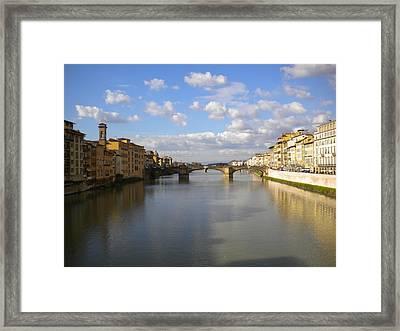 The Arno Framed Print by Nancy Ferrier