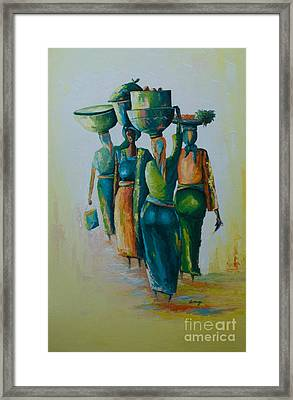 the Arrival Framed Print by Alfred Awonuga