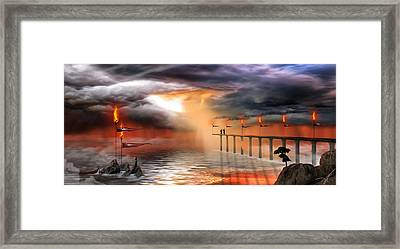 Framed Print featuring the photograph The Arrival by Anthony Citro