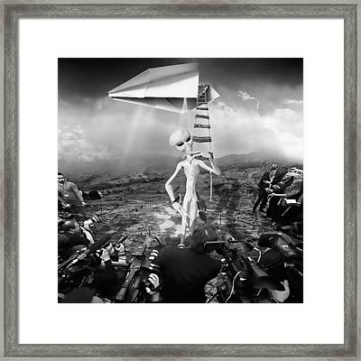 The Arrival Black And White Framed Print by Marian Voicu
