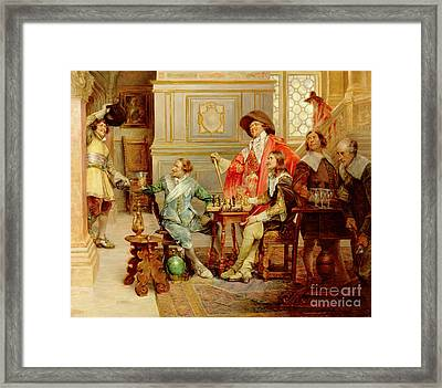 The Arrival Of D'artagnan Framed Print by Alex de Andreis