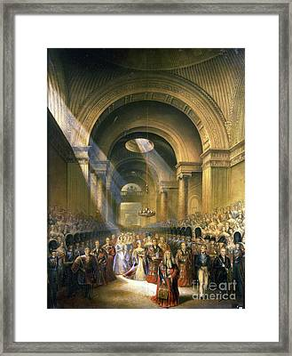 The Arrival Of Her Most Gracious Majesty Framed Print