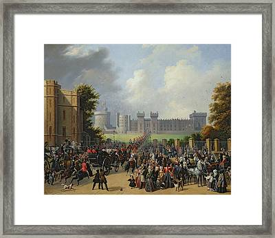 The Arrival Of Louis-philippe Framed Print by Edouard Pingret