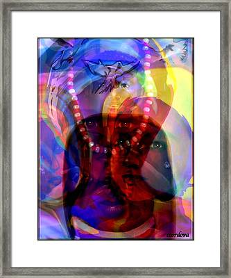 The Arrival Of Orishas Framed Print