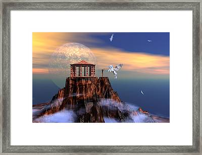 The Arrival Of Pegasus Framed Print by Claude McCoy