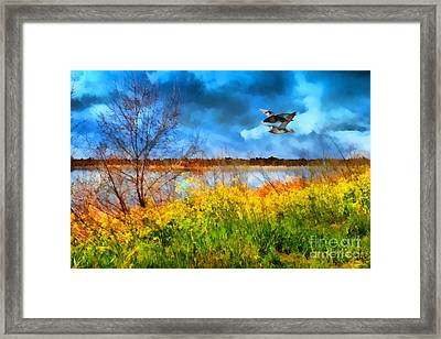 The Arrival Of Spring . 7d12643 Framed Print by Wingsdomain Art and Photography