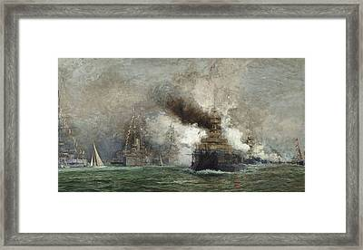 The Arrival Of The French Fleet In Cowes Roads Framed Print