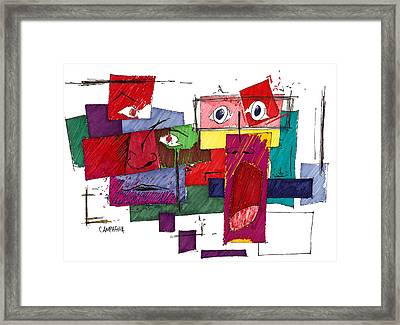 The Arrival Framed Print by Teddy Campagna