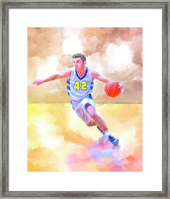 Framed Print featuring the painting The Art Of Basketball by Mark Tisdale