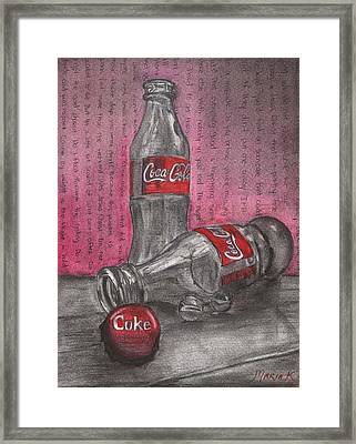 The Art Of Coca Cola Framed Print by Maria Kobalyan