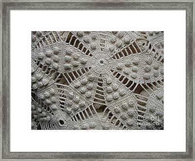 The Art Of Crochet  Framed Print by Kristine Nora