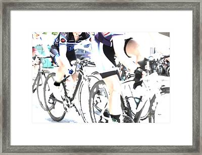 The Art Of Cycling  Framed Print