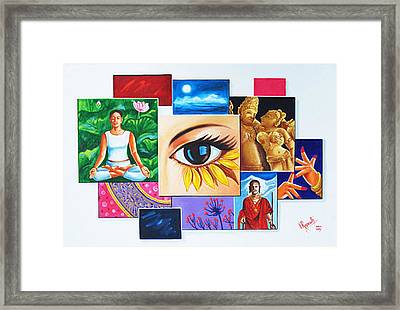 The Art Of Expression Framed Print by Ragunath Venkatraman
