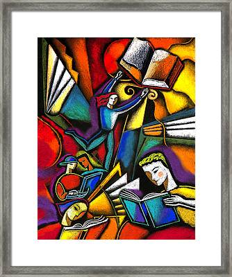 The Art Of Learning Framed Print by Leon Zernitsky