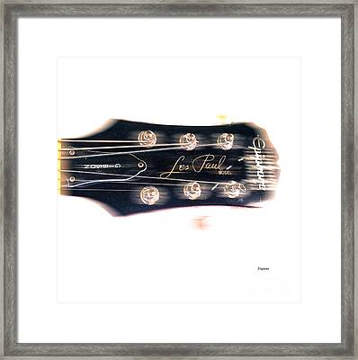 Les Paul Epiphone  Framed Print by Steven  Digman