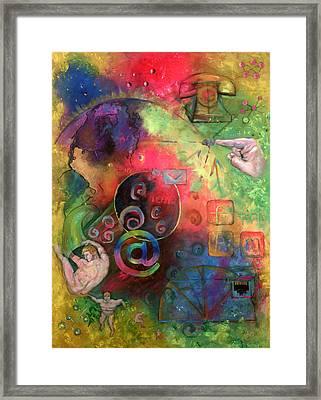 The Art Of The Net Framed Print by Peter Bonk