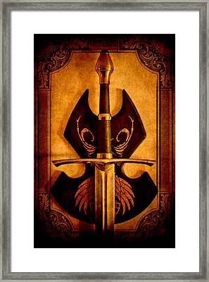 The Art Of War - Eternal Portrait Of A Warrior Framed Print by Loriental Photography