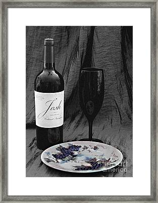 The Art Of Wine And Grapes Framed Print by Sherry Hallemeier