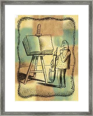 The Art Of Writing Framed Print by Leon Zernitsky
