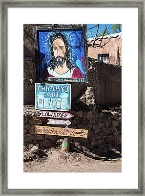 The Art Place In Chimayo Framed Print