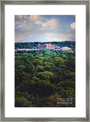 The Artesian Hotel In The Forest In Vertical Framed Print by Tamyra Ayles