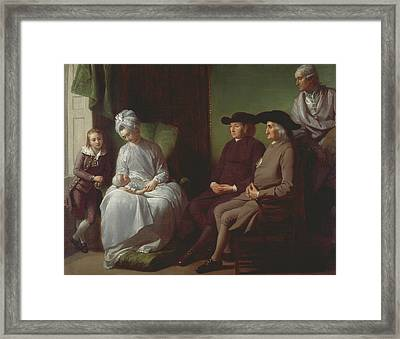 The Artist And His Family Framed Print by Benjamin West