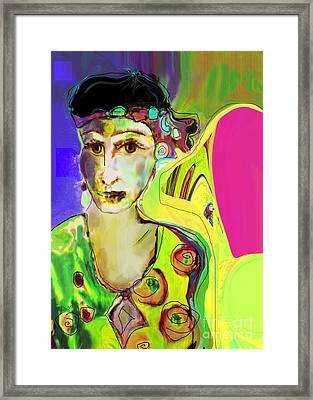 The Artist In Fauve Working Artist Framed Print