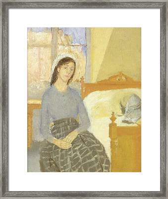 The Artist In Her Room In Paris Framed Print by Gwen John