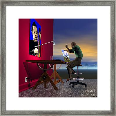 The Artist Framed Print by Walter Oliver Neal