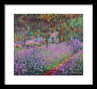 Monet Garden Framed Prints