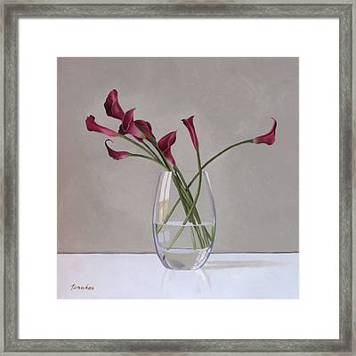 The Artists Life Framed Print by Linda Tenukas
