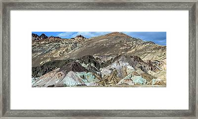 Framed Print featuring the photograph The Artists Palette Death Valley National Park by Michael Rogers