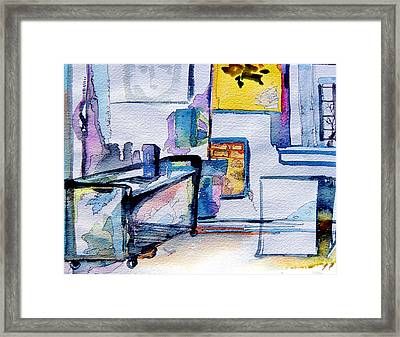 The Artists Studio Framed Print by Mindy Newman