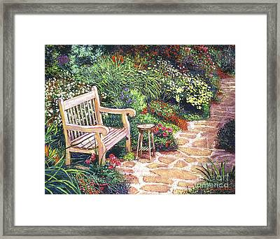 The Artist's Sunbench Framed Print