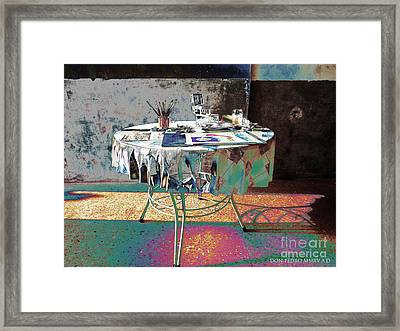The Artists Table Framed Print by Don Pedro De Gracia