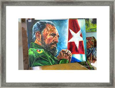 The Arts In Cuba Fidel Castro 2 Framed Print by Wayne Moran