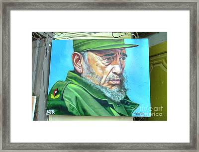 The Arts In Cuba Fidel Castro Framed Print by Wayne Moran