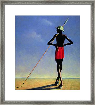 The Askari Framed Print by Tilly Willis