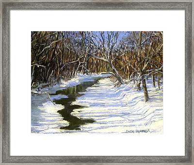 The Assabet River In Winter Framed Print