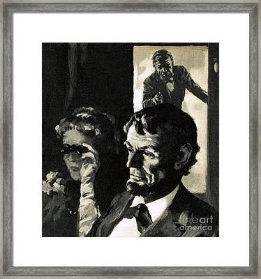 The Assassination Of Abraham Lincoln Framed Print