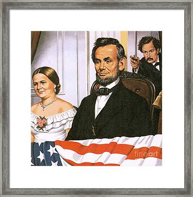 The Assassination Of Abraham Lincoln Framed Print by John Keay
