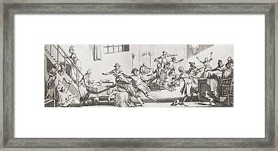 The Assassination Of Louis-michel Le Framed Print