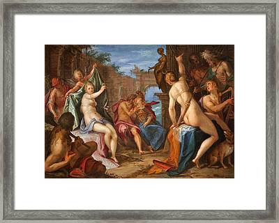 The Assembly Of The Gods On Mount Olympus Framed Print by Hans von Aachen