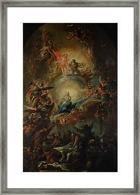 The Assumption Framed Print by Johann Christoph Lischka