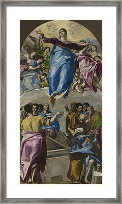 The Assumption Of The Virgin Framed Print by El Greco