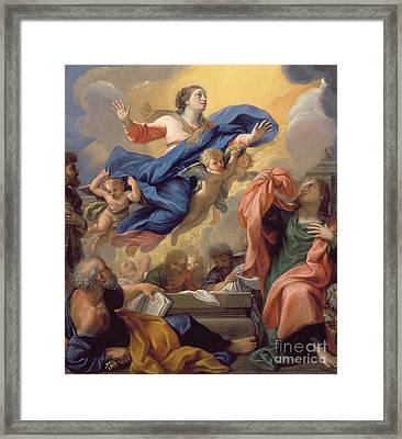 The Assumption Of The Virgin Framed Print by Guillaume Courtois